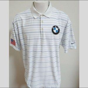 2XL White/Blue Nike Dri-Fit Usa Men db #238 Polo